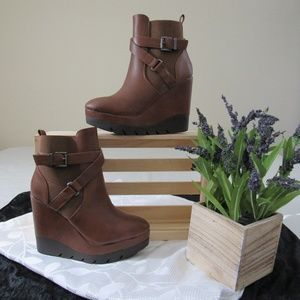 Wild Diva Wedge Booties